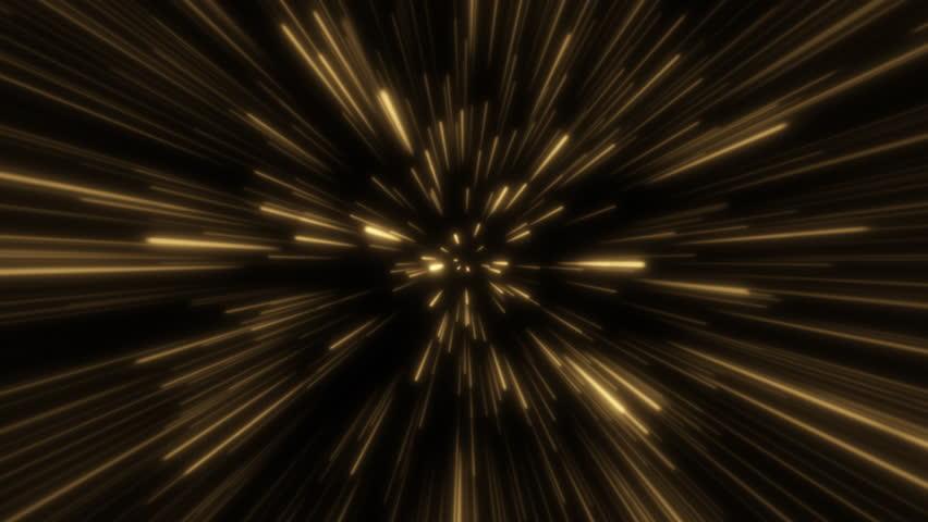 Hyperjump in space. Orange color. Moving through stars. 4K Seamless loop | Shutterstock HD Video #1022662813