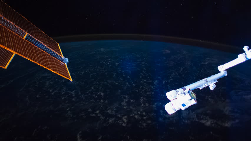SEPTEMBER 2018: Planet Earth seen from the International Space Station at night over the earth, Time Lapse 4K. Images courtesy of NASA | Shutterstock HD Video #1022672263