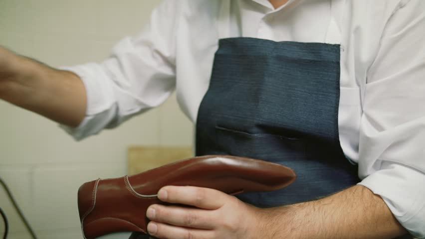 Shoe Maker Soaks the Glue, Stock Footage Video (100% Royalty-free)  1022715073 | Shutterstock