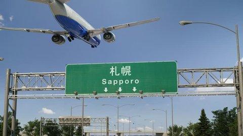 Airplane Landing Sapporo
