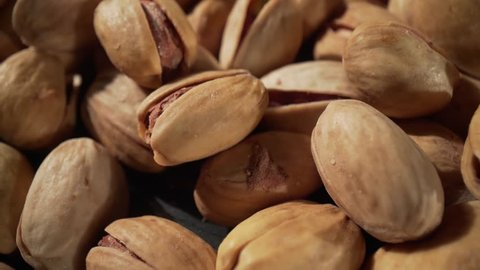 Close up of pistachios nut. The pistachio a member of the cashew family, is a small tree originating from Central Asia and the Middle East
