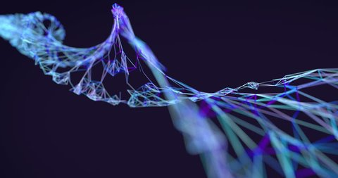 DNA chain, looping 3D animation with alpha mask