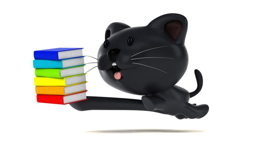 Fun cat running - 3D Animation   Shutterstock HD Video #1023072283