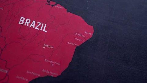 Map Brazil, Dolly Shot