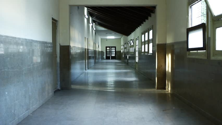 Empty Corridor in a High School in Argentina. Zoom In.  | Shutterstock HD Video #1023354913
