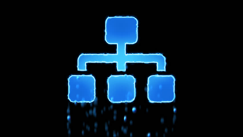 Liquid symbol sitemap appears with water droplets. Then dissolves with drops of water. Alpha channel black
