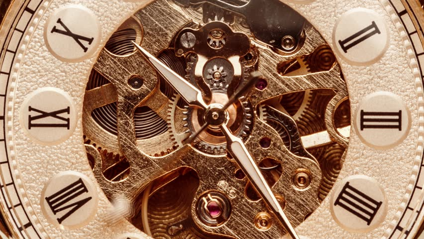 Antique clock dial close-up. Vintage pocket watch. | Shutterstock HD Video #1023432703