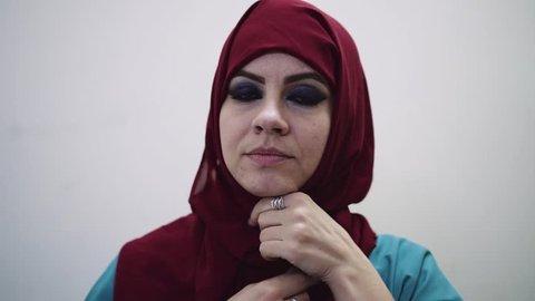Muslim woman swears