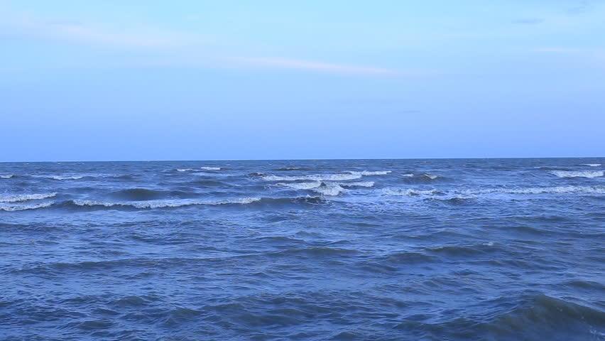 Sea Waves touching sandy beach  #10235273