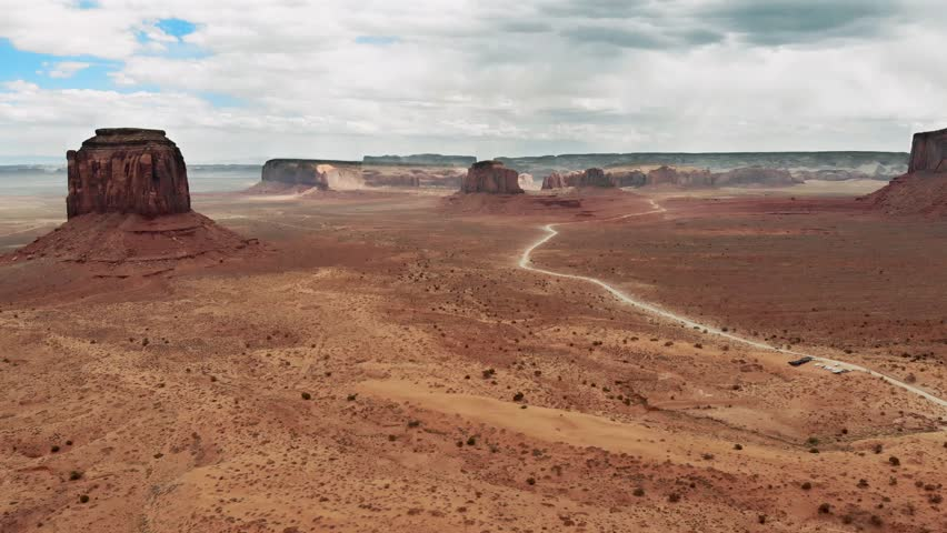 Monument Valley. Flying toward the Valley Drive | Shutterstock HD Video #1023562243