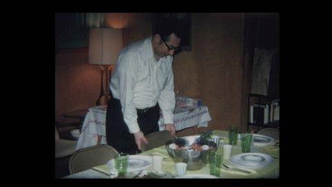 Man tastes and loves food 1971