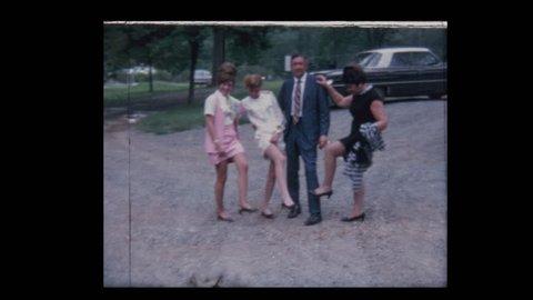 1971 Women show off their legs