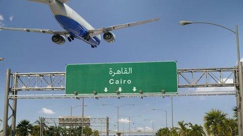 Airplane Landing Cairo