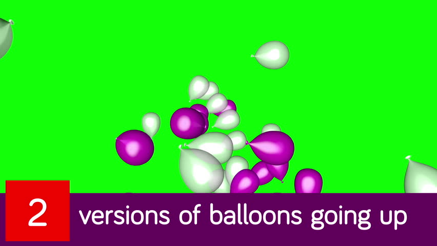 3d rendering of a set of pink and white ballons released and going up.