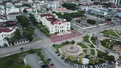 IPOH,Perak Malaysia - February 6, 2019 : Aerial view of City Hall building of IPOH ,located at at IPOH,PERAK MALAYSIA
