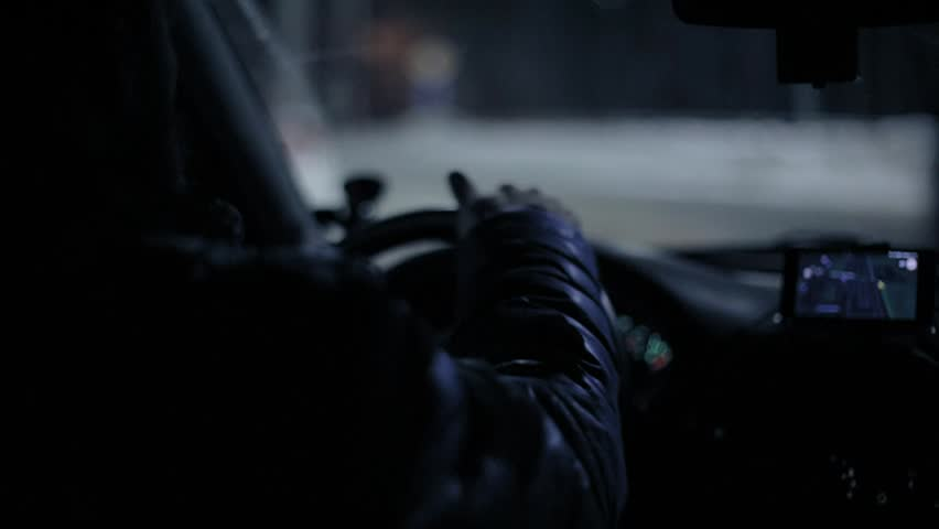 A man in the car driving   Shutterstock HD Video #1023794023