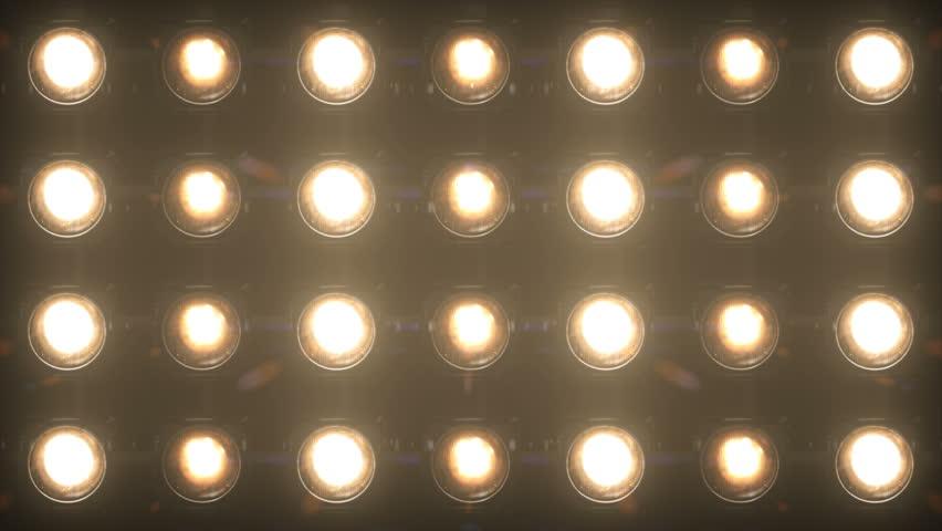 Floodlight Lights Flashing Wall Jarag VJ Stage 4K Blinder Blinking Lights Flash Club Flashlights Disco Lights Matrix Beam Lights Bulb Halogen Headlamp Lamp Nightclub Turn Off On Loop | Shutterstock HD Video #1023864613