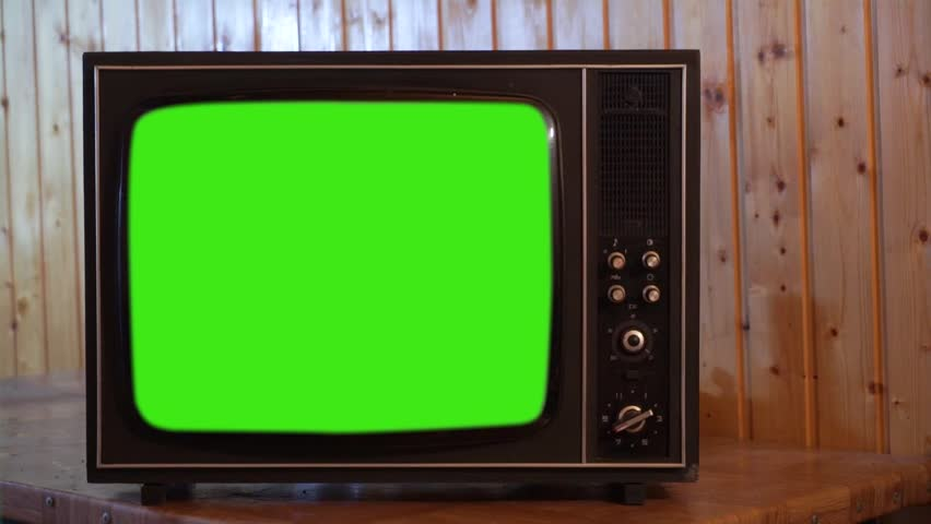 80s Television with Green Screen. You can replace green screen with the footage or picture you want | Shutterstock HD Video #1023888133