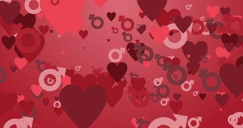 seamless animation saint valentine backgrounds
