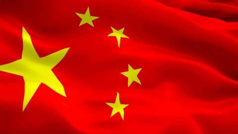 China Flag Wave Loop waving in wind Beijing. Realistic Chinese Flag background. China Flag Closeup 1080p Full HD 1920X1080 footage. China and Beijing. Asian country flags/ Other HD flags available
