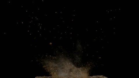 The soil explosion, realistic, Full HD 1080i