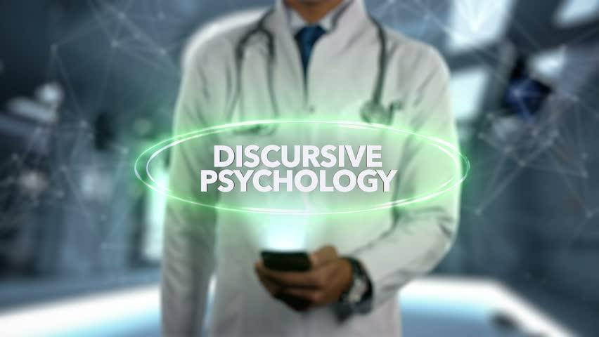 Male Doctor Hologram Psychology Word - Discursive psychology | Shutterstock HD Video #1024217213