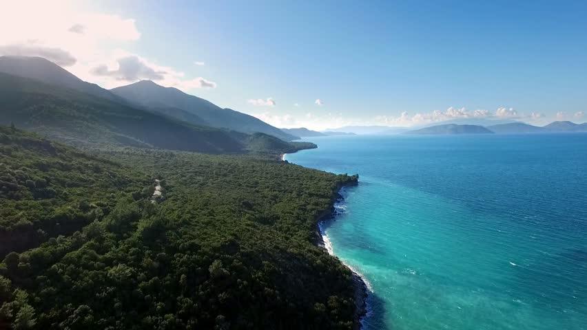 Travel destinations, beach, sea, sand, beach, Kusadasi Turkey   Shutterstock HD Video #1024319813