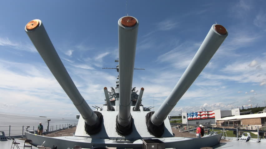 MOBILE, ALABAMA / USA - JULY 2018: Battleship Memorial Park, a military  history park and museum in Mobile, Alabama, USA.