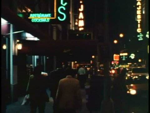 NEW YORK CITY, 1994, Theater District, Sardi's at night, crowds of people