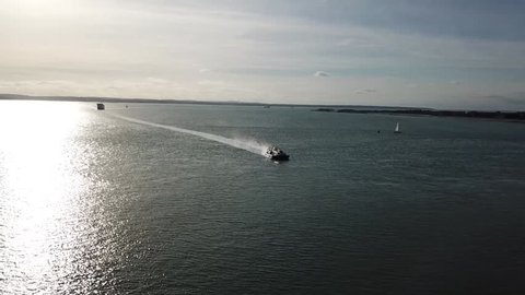 Hovercraft arriving at Southsea, Portsmouth, United Kingdom