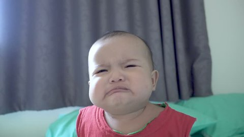 Crying baby, unhappy moment