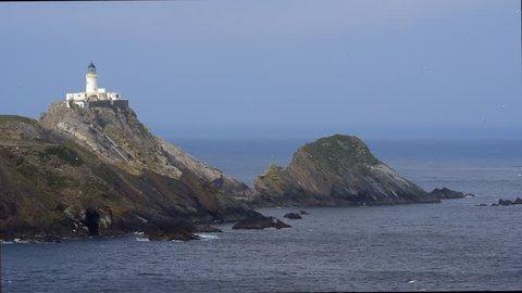 Muckle Flugga lighthouse, Britain's most northerly lighthouse on the island Unst, Shetland Islands, Scotland, UK