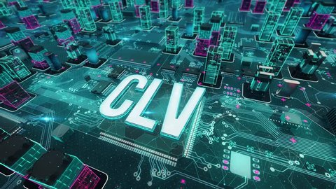CLV with digital technology concept