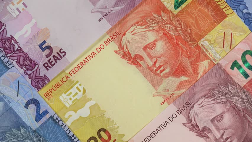 Brazil real notes slow rotating. Brazilian money, currency. Stock video footage   Shutterstock HD Video #1024595543