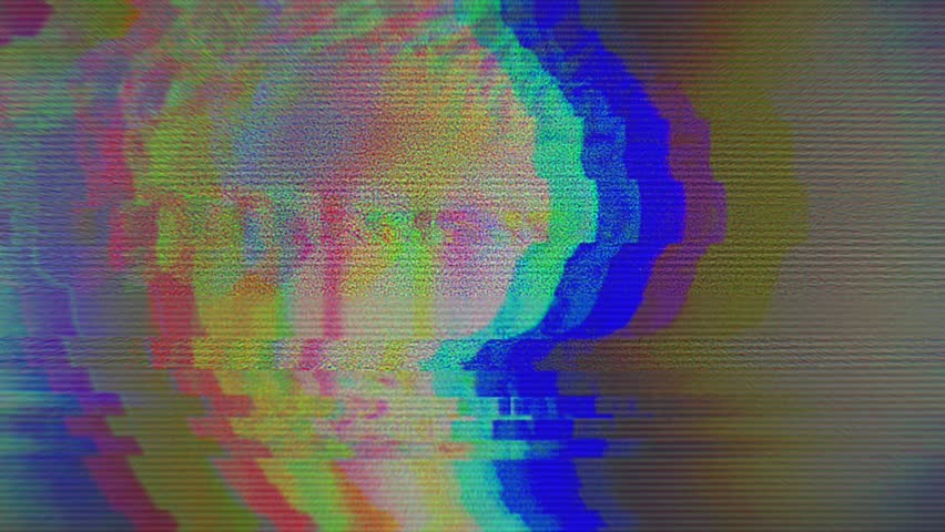 Digital pixel noise glitch art effect. Retro futurism 80s 90s dynamic wave style. Video signal damage with tv noise and old screen interference | Shutterstock HD Video #1024642013