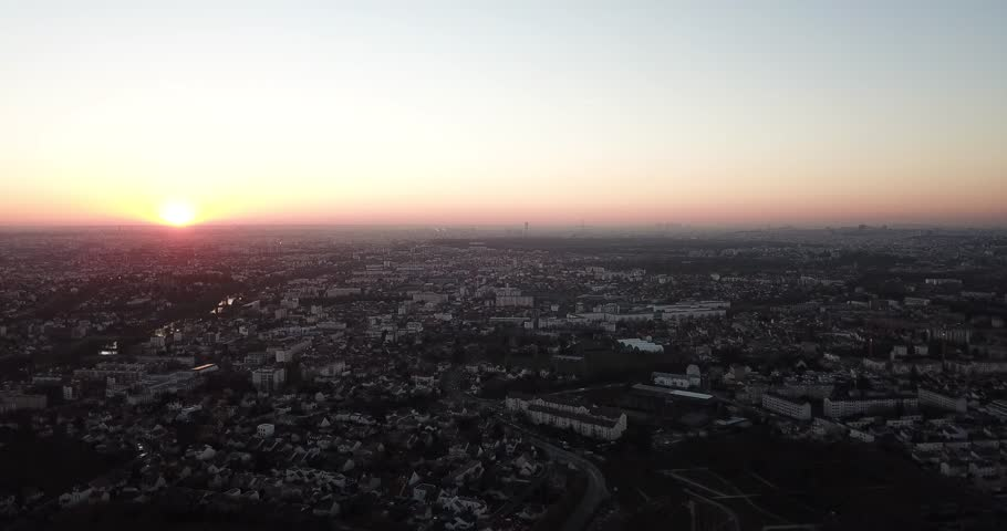 Sunset in the Paris area, Champigny sur Marne, Val de Marne, France | Shutterstock HD Video #1024769123