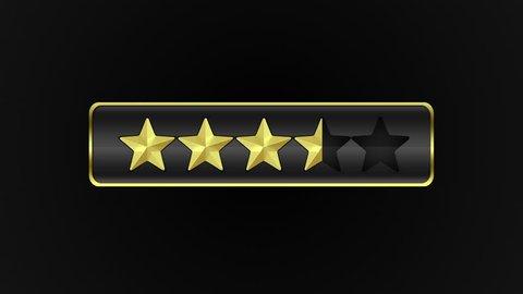 Rating Star Vote Concept Element