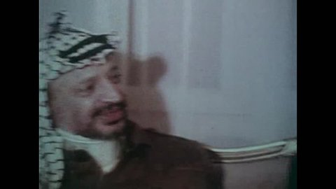 CIRCA 1980 - Hafez al-Assad of Syria meets with Palestinian leader Yasser Arafat in 1980.