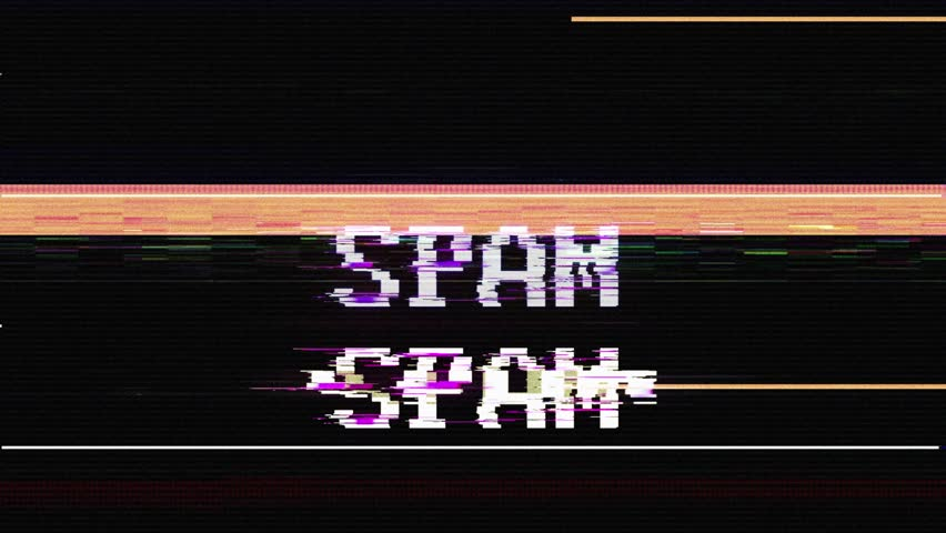 SPAM Glitch Text Animation, Rendering, Background, with Alpha Channel, Loop, 4k  | Shutterstock HD Video #1025065793