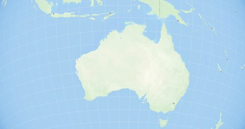 Zoom to australia. state borders and capitals. world zoom into the  commonwealth of australia - planet earth. political borders of neighbouring  countries: papua new guinea, indonesia, east timor. 4k.