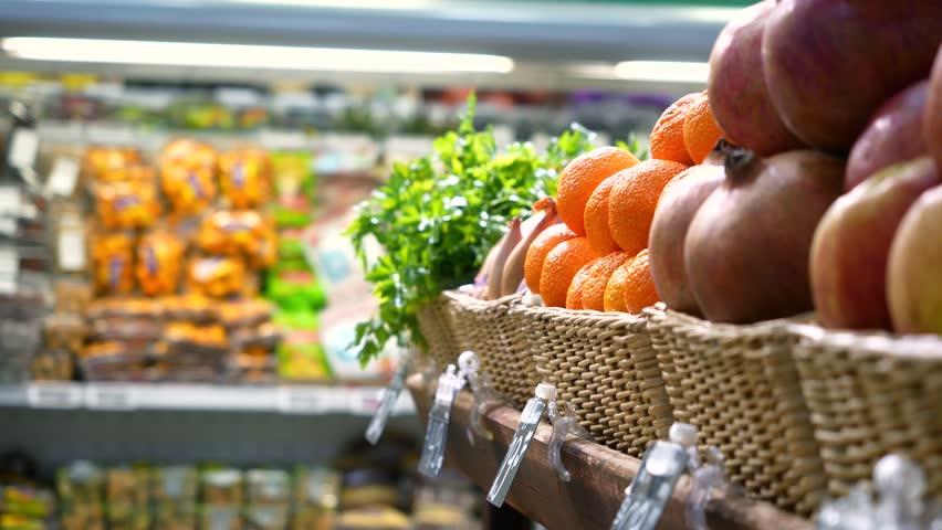Woman in the Fruit Market Stock Footage Video (100% Royalty-free)  1025098013   Shutterstock