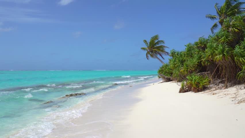 Tropical Sandy Beach of the Deserted Island Innafushi in Baa Atoll, Maldives | Shutterstock HD Video #1025161523