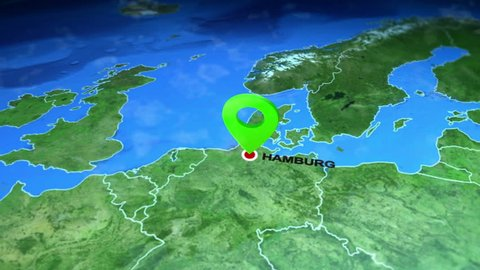 Hamburg, germany on the europe map. 3d map render, motion through clouds, on key map, impz dubai location map, walmart international locations map, west us map, bihar india map, world map, islamabad location on map, physical map, istanbul location on map, plan your road trip map, karratha western australia map, france location map, special purpose map, russia location map, address map, lagos nigeria on map, bank of america locations map, darfur location on map, hyderabad location on map, grid map,