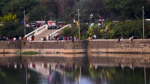 Nagpur, maharashtra/india - february 14 2019 : futala lake nagpur