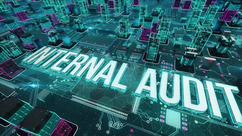 Internal audit with digital technology concept