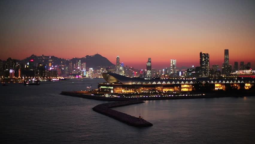 Kwun tong view of hong kong city | Shutterstock HD Video #1025674103