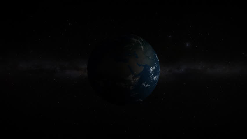 3D Earth revealing in space with lens flare effects. 4K resolution. Realistic and very high quality. | Shutterstock HD Video #1025816393