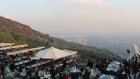 ISLAMABAD, PAKISTAN - March 17, 2019 - View of Islamabad City from Hilltop Monal Restaurant in Pir Sohawa, Islamabad.