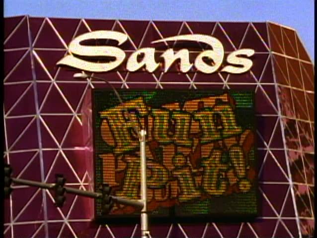 LAS VEGAS, NEVADA, 1994, The Las Vegas Strip, the Sands Hotel and Casino sign