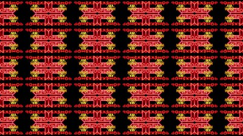 sequence made from images taken in amsterdam's red light district made into abstract pattern